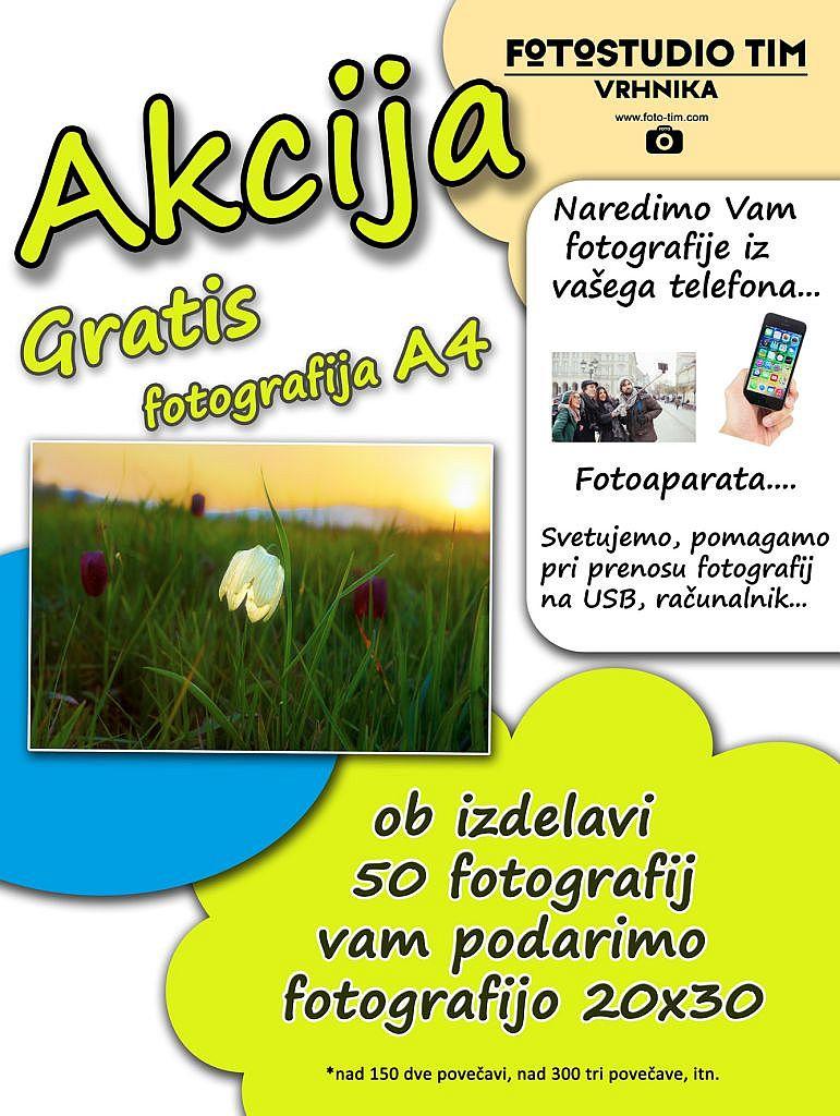 Povečava fotografij - akcija